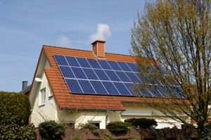Solar panels installed at residential unit